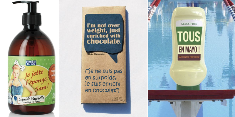 packaging texte humour